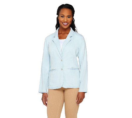 Liz Claiborne New York Denim Blazer with Pockets