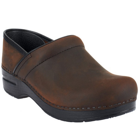"""As Is"" Dansko Professional Leather Clogs in Neutrals"