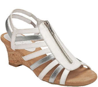Aerosoles Comfort Wedge Sandals - Half Dozen - A265891