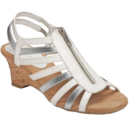 Aerosoles Comfort Wedge Sandals - Half Dozen