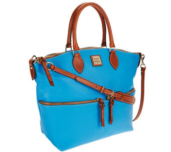 Dooney & Bourke Pebbled Leather Satchel with Front Zippers - A267391