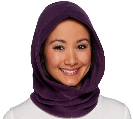Cuddl Duds Fleecewear Stretch Convertible Neckwarmer Hood