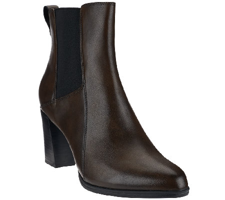 Clarks_Artisan Leather Pull-on Booties with Goring - Kadri Liana