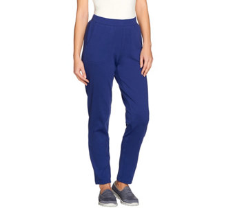 Denim & Co. Active Knit Pull-On Straight Slim Leg Pants - A274391