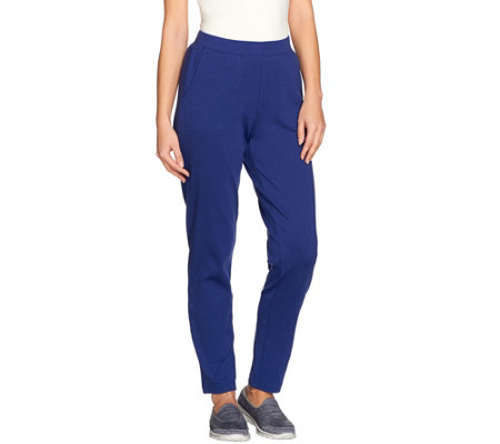 Denim & Co. Active Knit Pull-On Straight Slim Leg Pants