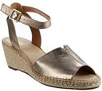 Clarks Artisan Leather Espadrille Wedge Sandals - Petrina Selma - A274791