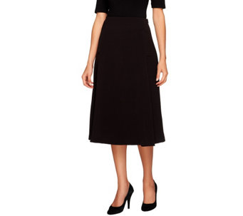 """As Is"" George Simonton A-Line Skirt with Elastic Waist & Seam Detail - A277191"