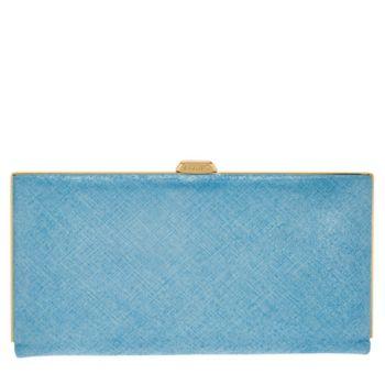 LODIS Italian Leather Frame Clutch w/ RFID - Quinn