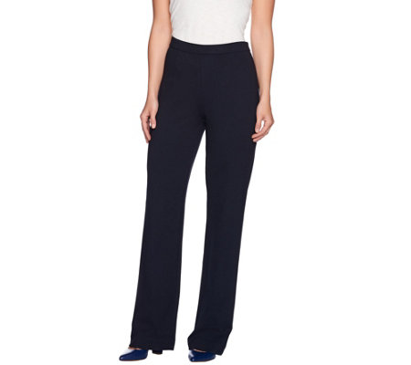 C. Wonder Petite Ponte Knit Full Leg Pull-On Pants