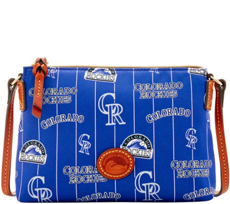 Dooney & Bourke MLB Nylon Rockies Crossbody Pouchette
