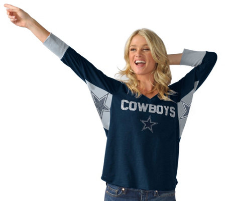 NFL Dallas Hands High Womens 3/4 Sleeve Tee by Jimmy Fallon