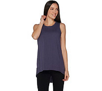 AnyBody Loungewear Cozy Knit Split Back Tank Top - A286591