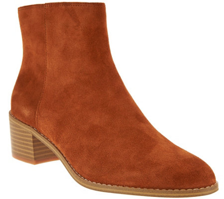 """As Is"" Clarks Somerset Block Heel Boots - Breccan Myth"
