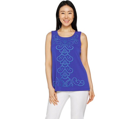 Susan Graver Liquid Knit Sleeveless Top