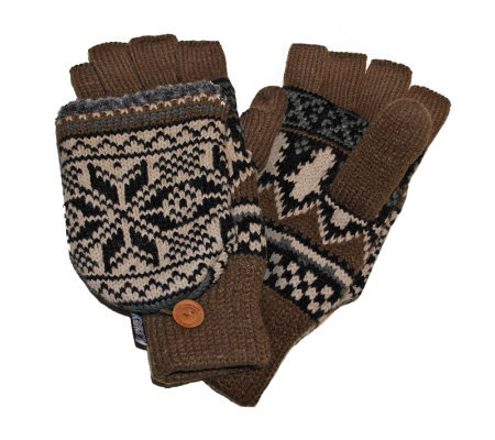 MUK LUKS Traditional Nordic Flip Glove for Men