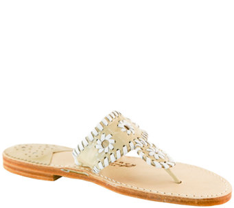 Palm Beach Leather Thong Sandals - Classic - A335991