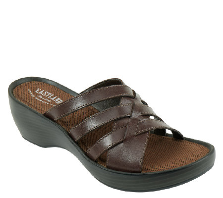 Eastland Leather Slide Sandals - Poppy