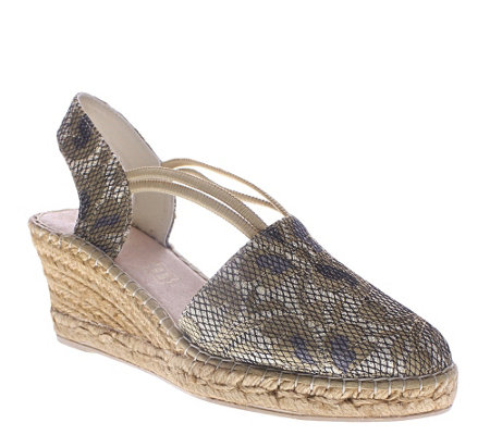 Azura by Spring Step Wedge Espadrille Sandals -Ixora