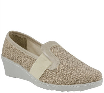 Flexus by Spring Step Canvas Slip-on Wedges - Creation - A339991