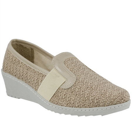 Flexus by Spring Step Canvas Slip-on Wedges - Creation
