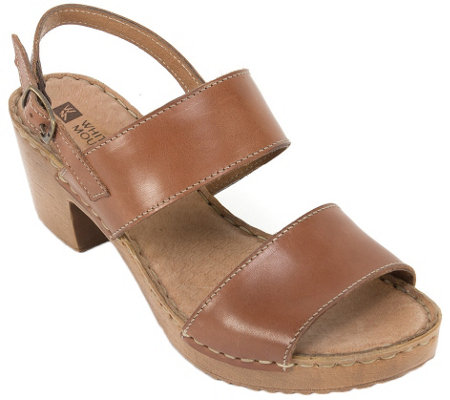 White Mountain Leather Sandals - Motor