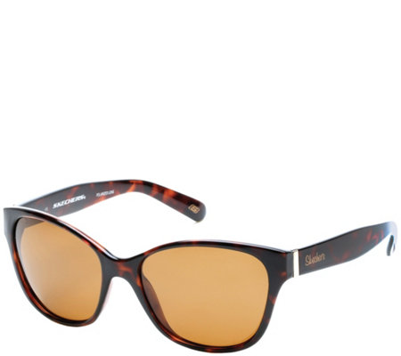 Skechers Women's Polarized Sunglasses - Tortoise