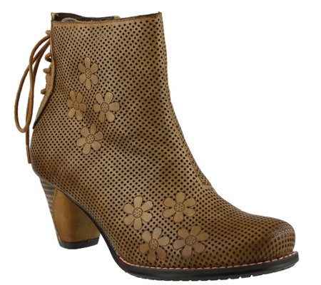 Spring Step L'Artiste Leather Ankle Boots - Teca