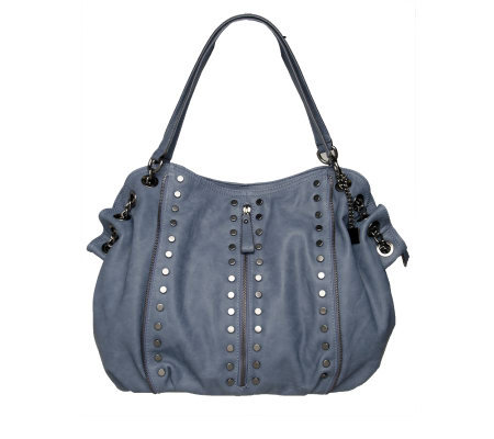 V Couture By Kooba Hobo Bag with Studded Hardware