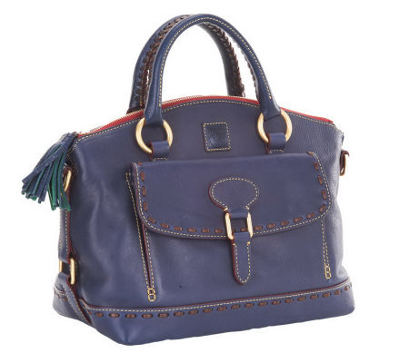 Dooney & Bourke Florentine Leather East/West Pocket Satchel