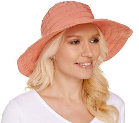 San DiegoHat Co UPF-50 Lightweight Collapsible Hat w/Wire in Brim