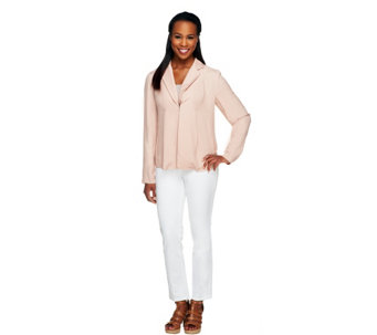 Kelly by Clinton Kelly Draped Front Jacket - A252792