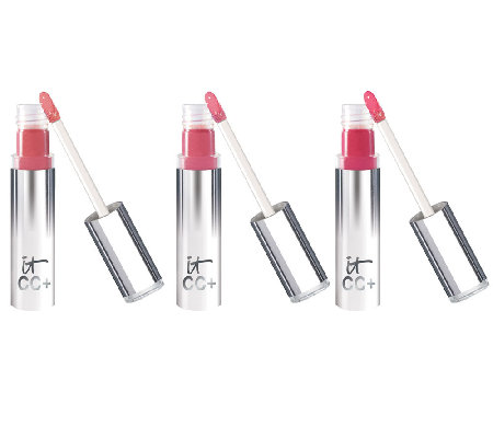 IT Cosmetics CC  Lip Serum Anti-Aging Hydrating Creme Gloss Trio