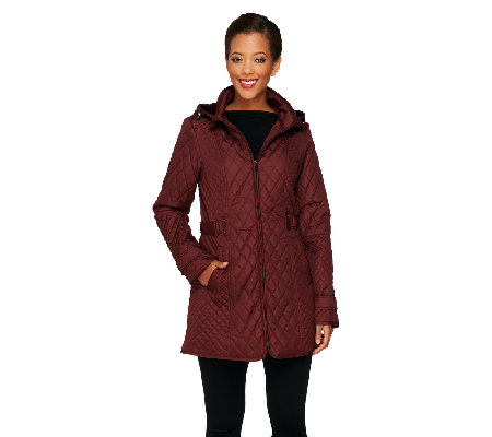 Liz Claiborne New York Mixed Quilted Jacket - Page 1 — QVC.com