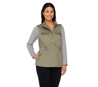 Liz Claiborne New York Four Pocket Safari Vest - A262192