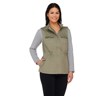 Liz Claiborne New York Four Pocket Safari Vest