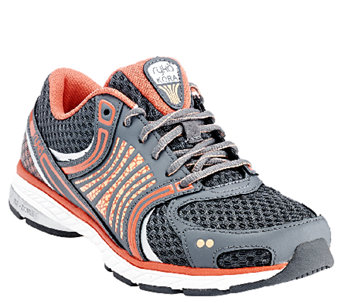 Ryka Leather & Mesh Lace-up Running Sneakers - Kora - A263492