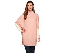 Isaac Mizrahi Live! 2-Ply Cashmere Sweater Tunic - A267692