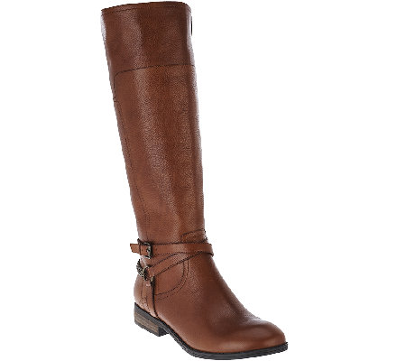 Marc Fisher Leather Medium Calf Boots - Alexis