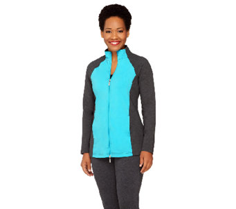 """As Is"" Denim & Co. Active Duo-Stretch Color-Block Jacket - A269492"