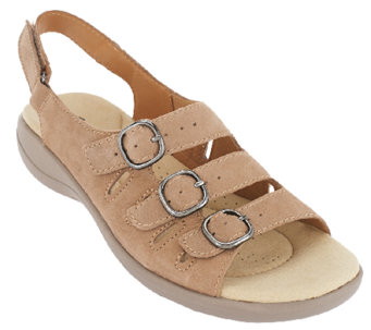 """As Is"" Clarks Leather or Nubuck Sandals - Saylie Medway - A270092"