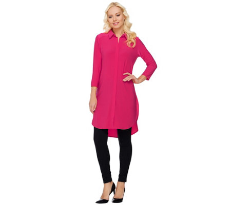 Women with Control Regular Tunic and Pintuck Leggings Set