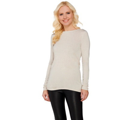 H by Halston Reversible Wrap Style Long Sleeve Sweater
