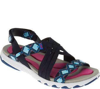 Ryka Multi-Strap Sandals with Foam Flexology Median - A275592