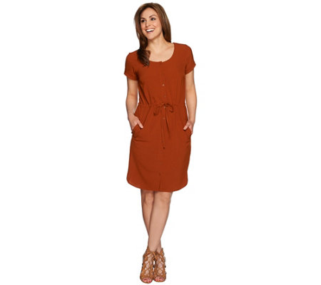 Linea by Louis Dell'Olio Drawstring Shirt Dress