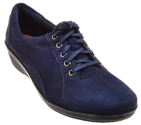 Clarks Nubuck Lace-up Shoes - Everylay Elma