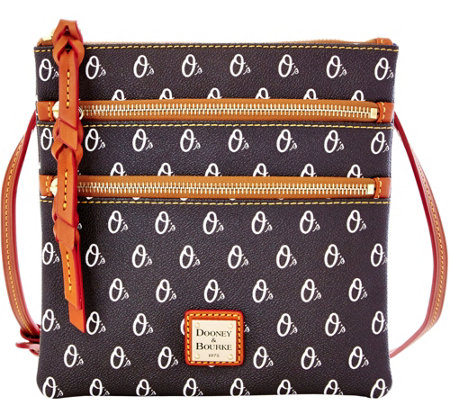 Dooney & Bourke MLB Orioles Triple Zip Crossbody