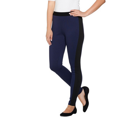 Lisa Rinna Collection Petite Leggings with Ribbed Panel