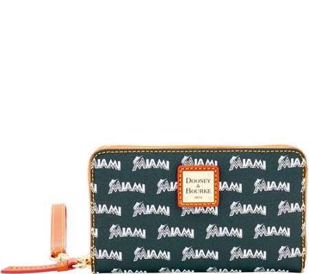 Dooney & Bourke MLB Marlins Zip Around Phone Wristlet