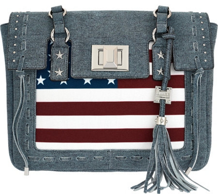 """As Is"" Aimee Kestenberg Leather Flag Tote - Washington"