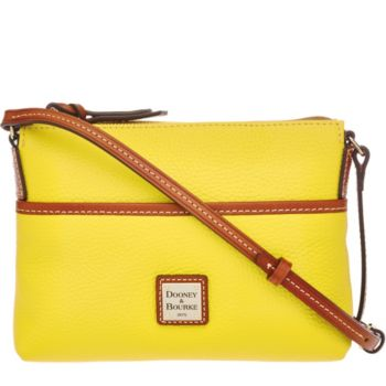 As Is Dooney & Bourke Pebble Leather Ginger Pouchette